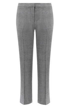 Женские шерстяные брюки ALEXANDER MCQUEEN серого цвета, арт. 631788/QJABH | Фото 1