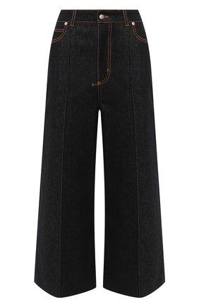 Женские джинсы ALEXANDER MCQUEEN черного цвета, арт. 628063/QMAA3   Фото 1