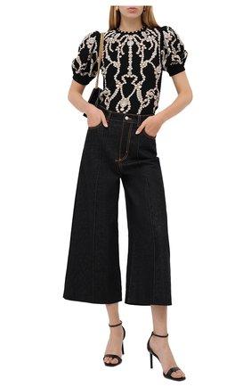 Женские джинсы ALEXANDER MCQUEEN черного цвета, арт. 628063/QMAA3   Фото 2