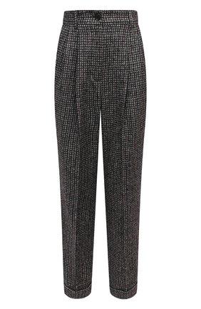 Женские шерстяные брюки DOLCE & GABBANA темно-серого цвета, арт. FTBX1T/FMMFU | Фото 1