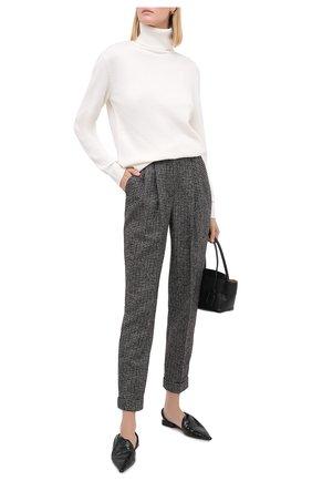Женские шерстяные брюки DOLCE & GABBANA темно-серого цвета, арт. FTBX1T/FMMFU | Фото 2