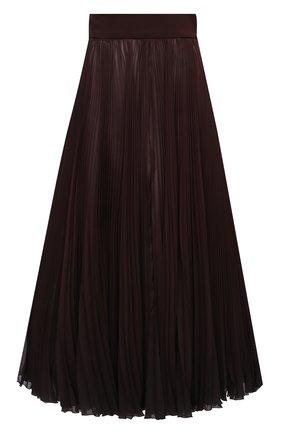 Женская плиссированная юбка DOLCE & GABBANA темно-коричневого цвета, арт. F4BZ0T/GDW12 | Фото 1
