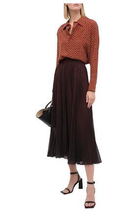 Женская плиссированная юбка DOLCE & GABBANA темно-коричневого цвета, арт. F4BZ0T/GDW12 | Фото 2
