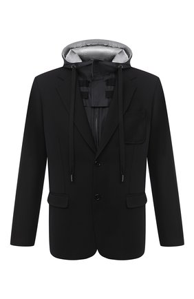 Мужская шерстяная куртка DOLCE & GABBANA черного цвета, арт. G20Q3T/HUMF2 | Фото 1