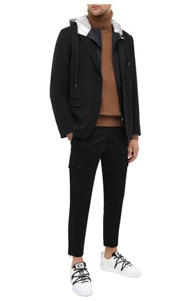 Мужская шерстяная куртка DOLCE & GABBANA черного цвета, арт. G20Q3T/HUMF2 | Фото 2