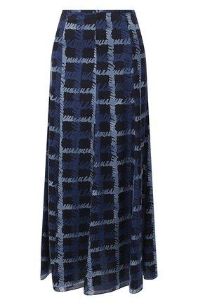 Женская шелковая юбка EMPORIO ARMANI синего цвета, арт. 9NN17T/92509   Фото 1