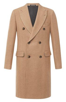 Мужской шерстяное пальто EMPORIO ARMANI бежевого цвета, арт. 91LCW0/91915 | Фото 1