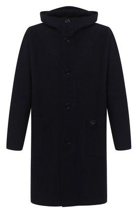 Мужской шерстяное пальто EMPORIO ARMANI темно-синего цвета, арт. 8N1L6P/1JK7Z   Фото 1