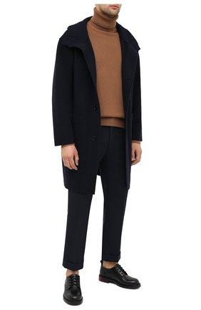 Мужской шерстяное пальто EMPORIO ARMANI темно-синего цвета, арт. 8N1L6P/1JK7Z   Фото 2