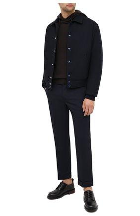 Мужской худи из шерсти и кашемира EMPORIO ARMANI темно-коричневого цвета, арт. 6H1MXJ/1MHPZ   Фото 2