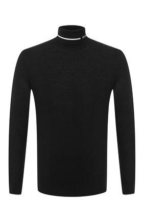 Мужской шерстяная водолазка EMPORIO ARMANI черного цвета, арт. 6H1MXA/1MDHZ   Фото 1