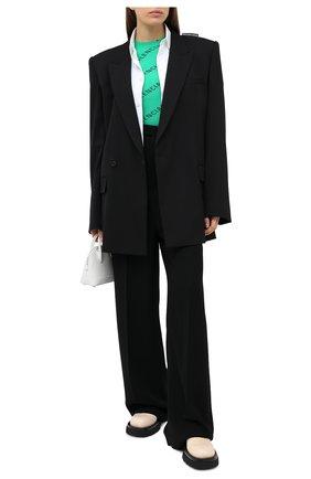 Женский пуловер с логотипом бренда BALENCIAGA зеленого цвета, арт. 570844/T6140 | Фото 2