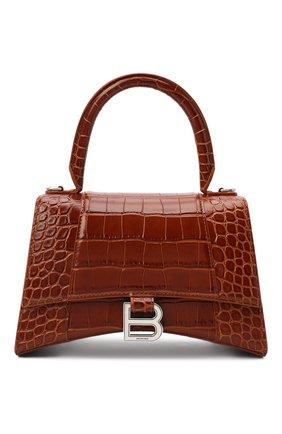 Женская сумка hourglass s BALENCIAGA коричневого цвета, арт. 593546/1LR6Y | Фото 1