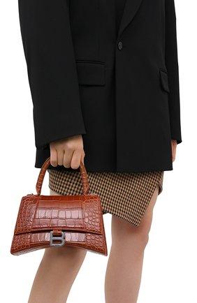 Женская сумка hourglass s BALENCIAGA коричневого цвета, арт. 593546/1LR6Y | Фото 2