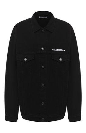 Женская джинсовая куртка BALENCIAGA черного цвета, арт. 628857/TEW35   Фото 1