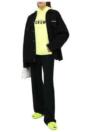 Женская джинсовая куртка BALENCIAGA черного цвета, арт. 628857/TEW35   Фото 2