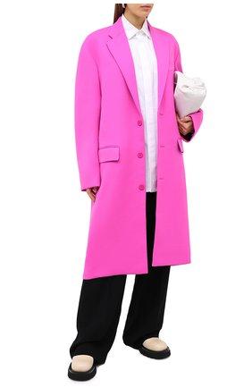 Женское шерстяное пальто BALENCIAGA фуксия цвета, арт. 626573/TIU06 | Фото 2