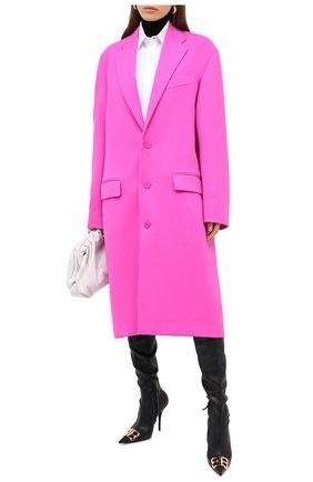 Женское шерстяное пальто BALENCIAGA фуксия цвета, арт. 626573/TIU06 | Фото 3