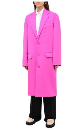 Женское шерстяное пальто BALENCIAGA фуксия цвета, арт. 626573/TIU06 | Фото 4