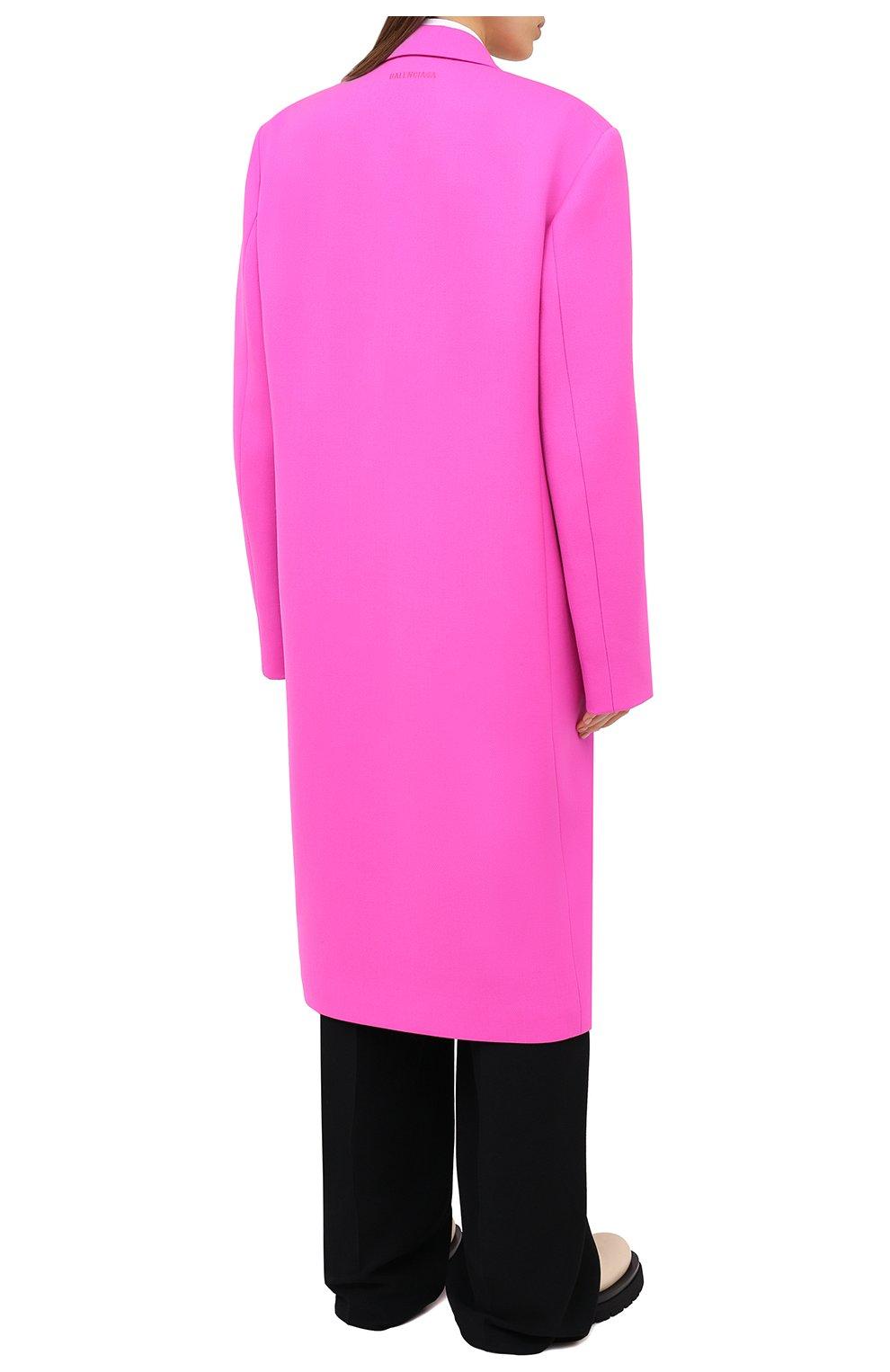 Женское шерстяное пальто BALENCIAGA фуксия цвета, арт. 626573/TIU06 | Фото 5