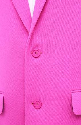 Женское шерстяное пальто BALENCIAGA фуксия цвета, арт. 626573/TIU06 | Фото 6