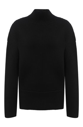 Женский шерстяной свитер BALENCIAGA черного цвета, арт. 626168/T1573 | Фото 1