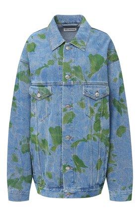 Женская джинсовая куртка BALENCIAGA синего цвета, арт. 625993/TDW15 | Фото 1