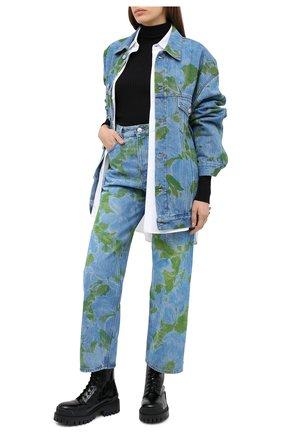 Женская джинсовая куртка BALENCIAGA синего цвета, арт. 625993/TDW15 | Фото 2
