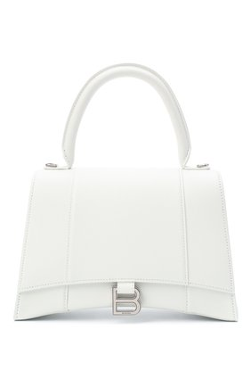 Женская сумка hourglass m BALENCIAGA белого цвета, арт. 619668/1IZHY | Фото 1