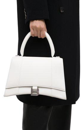 Женская сумка hourglass m BALENCIAGA белого цвета, арт. 619668/1IZHY | Фото 2