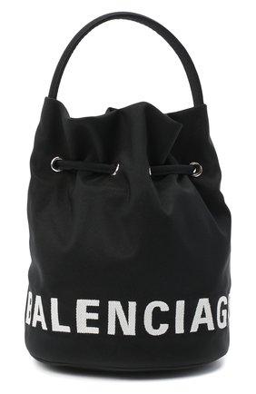 Женская сумка bucket BALENCIAGA черного цвета, арт. 619458/H852N | Фото 1