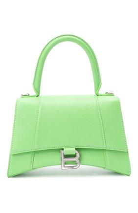 Женская сумка hourglass s BALENCIAGA светло-зеленого цвета, арт. 593546/1IZHY | Фото 1