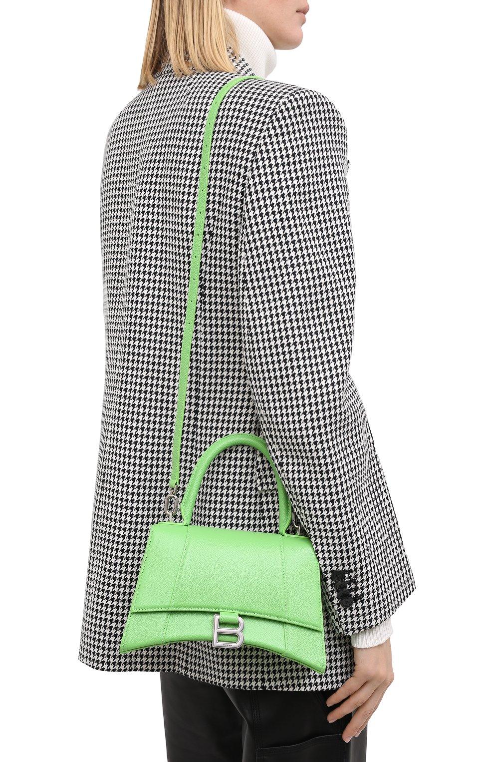 Женская сумка hourglass s BALENCIAGA светло-зеленого цвета, арт. 593546/1IZHY | Фото 5