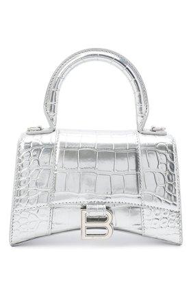 Женская сумка hourglass xs BALENCIAGA серебряного цвета, арт. 592833/1S49Y   Фото 1