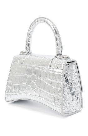 Женская сумка hourglass xs BALENCIAGA серебряного цвета, арт. 592833/1S49Y | Фото 3