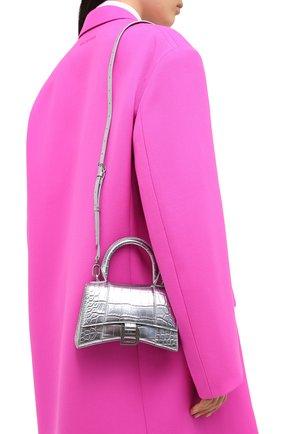 Женская сумка hourglass xs BALENCIAGA серебряного цвета, арт. 592833/1S49Y | Фото 5