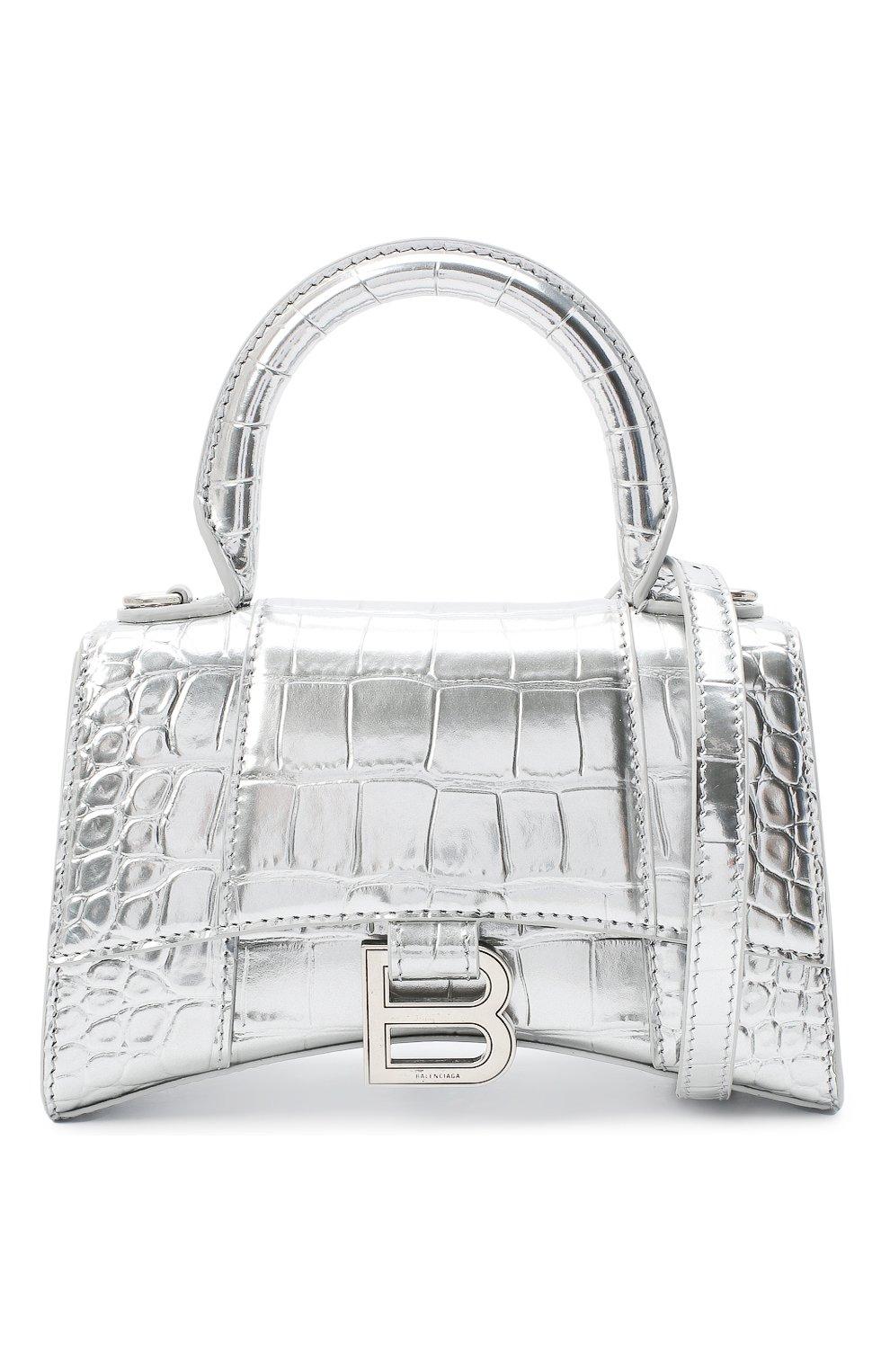 Женская сумка hourglass xs BALENCIAGA серебряного цвета, арт. 592833/1S49Y | Фото 6