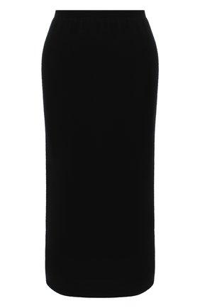 Женская кашемировая юбка TEGIN черного цвета, арт. FS445   Фото 1
