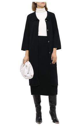 Женская кашемировая юбка TEGIN черного цвета, арт. FS445   Фото 2