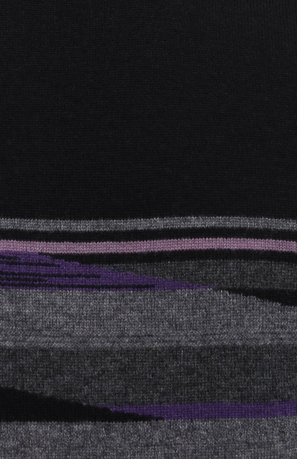 Мужской кашемировый джемпер Z ZEGNA черного цвета, арт. VVH23/ZZ110   Фото 5 (Мужское Кросс-КТ: Джемперы; Материал внешний: Шерсть; Рукава: Длинные; Длина (для топов): Стандартные; Вырез: Круглый; Стили: Кэжуэл)