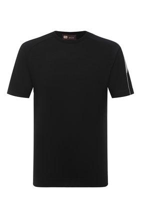Мужская шерстяная футболка Z ZEGNA черного цвета, арт. VV390/ZZT705 | Фото 1