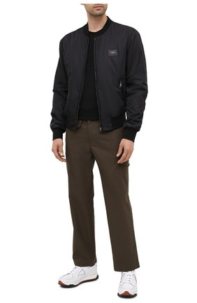 Мужская шерстяная футболка Z ZEGNA черного цвета, арт. VV390/ZZT705 | Фото 2