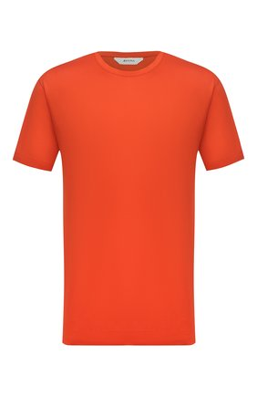 Мужская хлопковая футболка Z ZEGNA оранжевого цвета, арт. VV372/ZZ650 | Фото 1 (Материал внешний: Хлопок; Рукава: Короткие; Мужское Кросс-КТ: Футболка-одежда; Принт: Без принта; Стили: Кэжуэл)