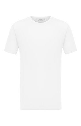 Мужская хлопковая футболка Z ZEGNA белого цвета, арт. VV372/ZZ650 | Фото 1 (Материал внешний: Хлопок; Рукава: Короткие; Мужское Кросс-КТ: Футболка-одежда; Принт: Без принта; Стили: Кэжуэл)