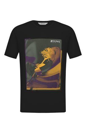 Мужская хлопковая футболка Z ZEGNA черного цвета, арт. VV372/ZZ630Z | Фото 1