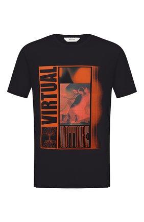 Мужская хлопковая футболка Z ZEGNA черного цвета, арт. VV372/ZZ630Q | Фото 1 (Материал внешний: Хлопок; Длина (для топов): Стандартные; Рукава: Короткие; Мужское Кросс-КТ: Футболка-одежда; Стили: Кэжуэл)