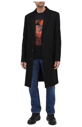Мужская хлопковая футболка Z ZEGNA черного цвета, арт. VV372/ZZ630Q | Фото 2 (Материал внешний: Хлопок; Длина (для топов): Стандартные; Рукава: Короткие; Мужское Кросс-КТ: Футболка-одежда; Стили: Кэжуэл)