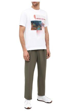 Мужская хлопковая футболка Z ZEGNA белого цвета, арт. VV372/ZZ630P   Фото 2