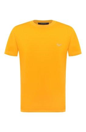 Мужская хлопковая футболка ERMENEGILDO ZEGNA желтого цвета, арт. UV526/707R | Фото 1