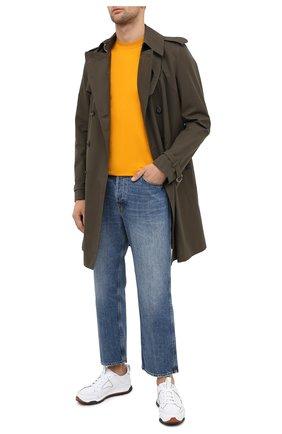 Мужская хлопковая футболка ERMENEGILDO ZEGNA желтого цвета, арт. UV526/707R | Фото 2